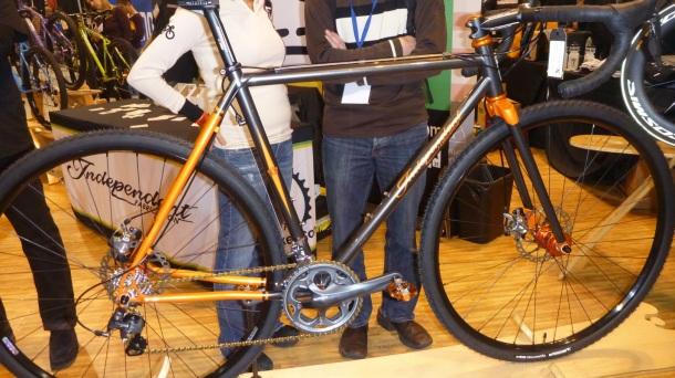 Gray and orange bike