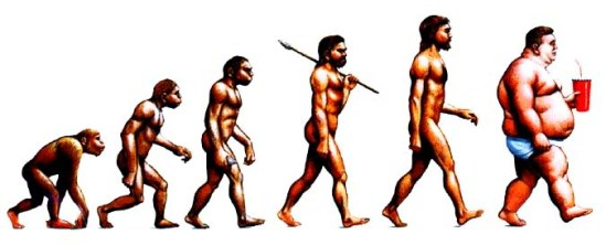 Human evolution based on diet